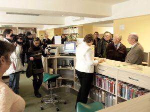 Slavnostní otevření knihovny na ulici Svornosti