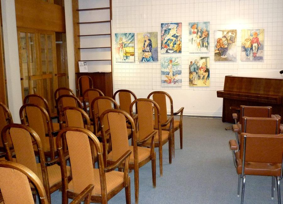 Hudební salónek v pobočce na Pavlovově ulici, 2010.
