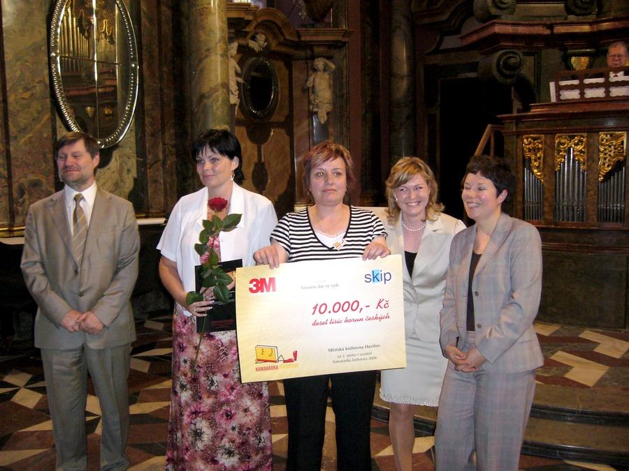 3. místo v soutěži Kamarádka knihovna