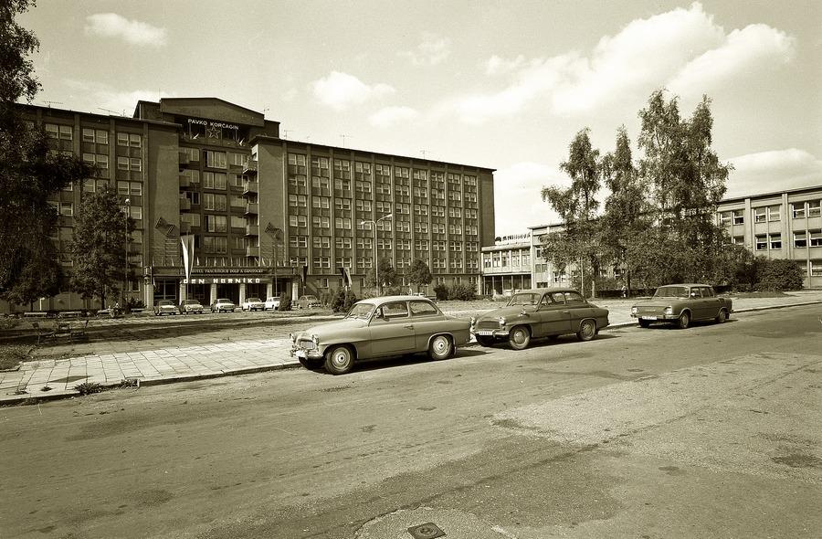Učiliště Pavky Korčagina sloužilo dříve hornickým učňům, knihovně i Městskému národnímu výboru.