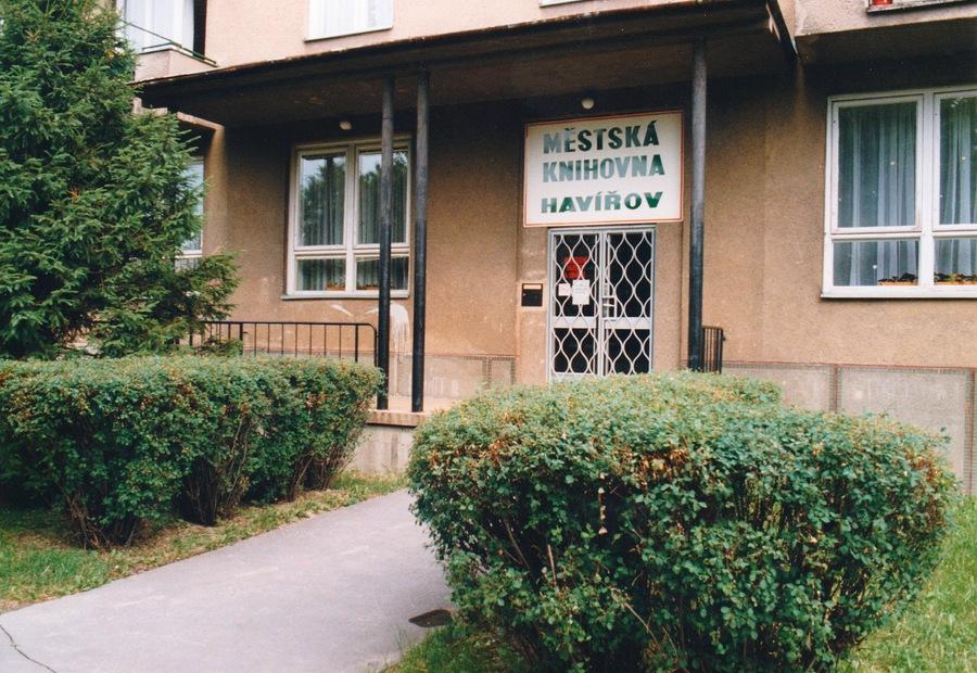 Vchod do Hudebního oddělení na Pavlovově ulici.